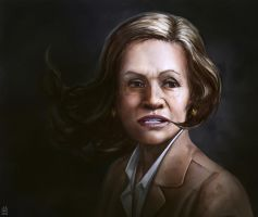 Portrait of Retired Cop Lady by Gizmoatwork