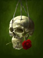 Skull n Rose by Rilez75