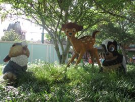 Bambi, Thumper and Flower Topairy Downtown Disney by DreamsCanComeTrue67