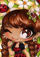 ACEO 72: Ladybugs by Forunth