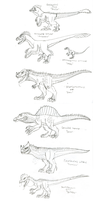 Pseudosaur Sketch Studies by FiftyFootWhatever