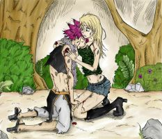 Fairy Tail - NaLu Colored by Mikki05