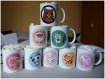 Pandaka Mugs! by Silveril