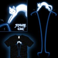 Electric Spark Cat by amegoddess