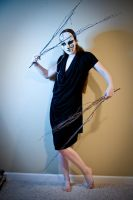 Mask and sticks by Sinned-angel-stock
