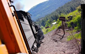 Passenger View of Durango Silverton Railroad by DamselStock