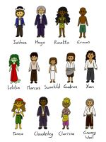 Map Treasure Chibis by PuddingValkyrie