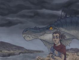 the boy and the dragon by Fedini