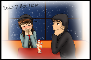 Kaso and Heartless: brainfreeze by Leadmare