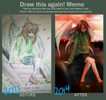 Draw this again meme: AR from Chii by alexkraus1013