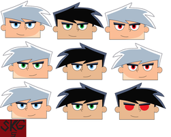 Extra Danny Faces 1 by superkamiguru5