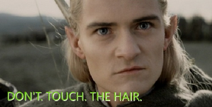 Don't Touch Legolas' Hair... Or You Will Die by elksongredfeather