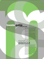 Franklin Gothic by girlonthem00n