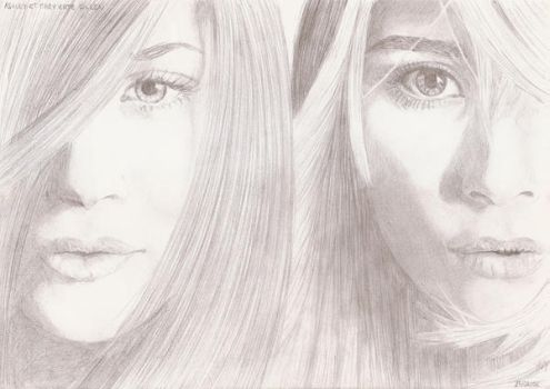 Ashley et Mary-Kate Olsen by crayon2papier