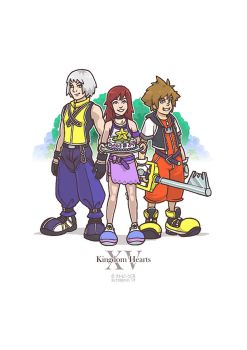 Kingdom Hearts 15th Anniversary by futobeans