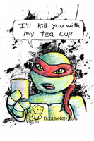 TMNT Postcard 2 of 4 - Teacup by resuki