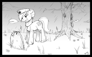 Artist Training Ground - Pony Mourning by PaperCutPony