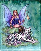 Fairy and Tiger by lady-cybercat