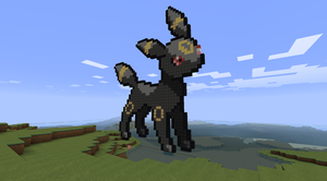 Minecraft: Umbreon by LotusFlowerful