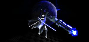 MMD Black Rock Shooter Wallpaper by ChestNutScoop