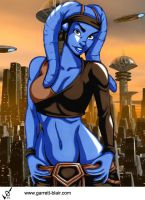 Aayla 2 by Garrett Blair by Mythical-Mommy