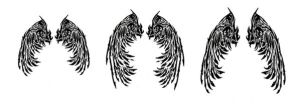 Tribal Angel Wings Tattoos by Quicksilverfury