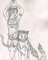 Lady of the Cat by Ritika-of-fire