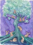 The Bunny Tree by nienor