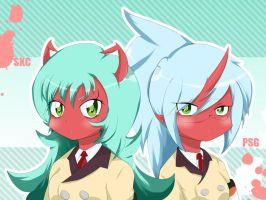 Scanty and Kneesocks by StaleMeat