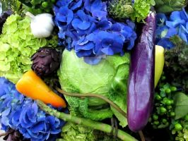 Floral and Vegetable Centerpiece by Loewnau-Photography