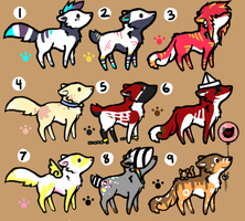 Mini Adoptables 3.OPEN. by HappyFoxChelsy