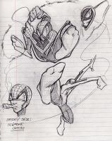 Spidey sketches by scupbucket
