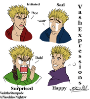 Vash's Expressions by TitanicGal1912