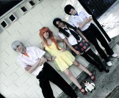 Evangelion group cosplay by SailorMappy