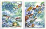 Illustration 2 page spread by galazy