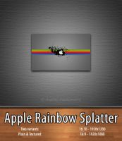 Apple Rainbow Splatter by mackiewicz