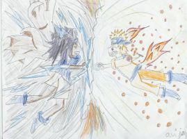 Naruto and sasuke by beesandjam
