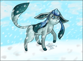Lonely Glaceon by avui