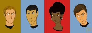 Star Trek TOS Portraits by SinisterlySweet