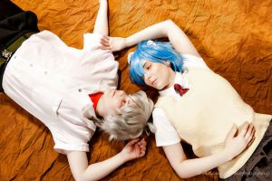 rei and kaworu by goblincreations