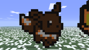 Minecraft- Eevee by aprilgoddess