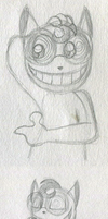 Cheshire Cat!Fawful Sketches by PuccaFanGirl