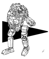 HBK-4SP Hunchback 'Swayback' BattleMech by prdarkfox