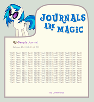 Journals Are Magic - Vinyl Scratch by CassidyCreations