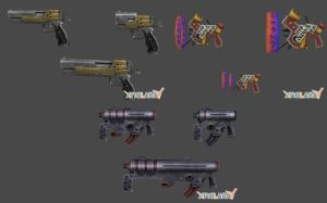 Final Fantasy X2 - Dressphere Gun Pack by xHolyxLightx