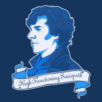 Sherlock Shirt Design - Sociopath by sugarpoultry