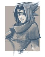 sasuke sketch by Ithilean