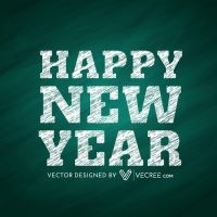 Happy New Year Creative Free Vector by vecree