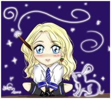 HP chibi series: Luna Lovegood by angelmisty