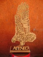 ateneo eagle cut by burninginkworks